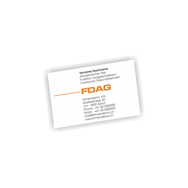 100 Visitenkarten 2 Farbig Offsetdruck